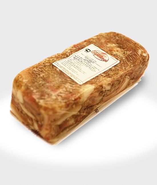 Мясо свиных голов прессованное