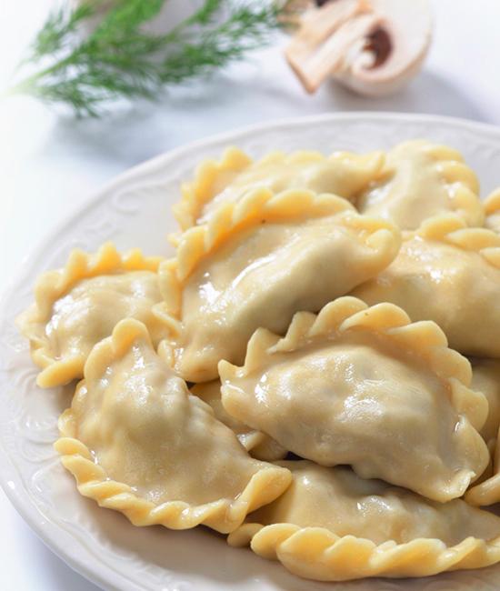 """Постные """"Знатные""""  с картофелем и грибами"""